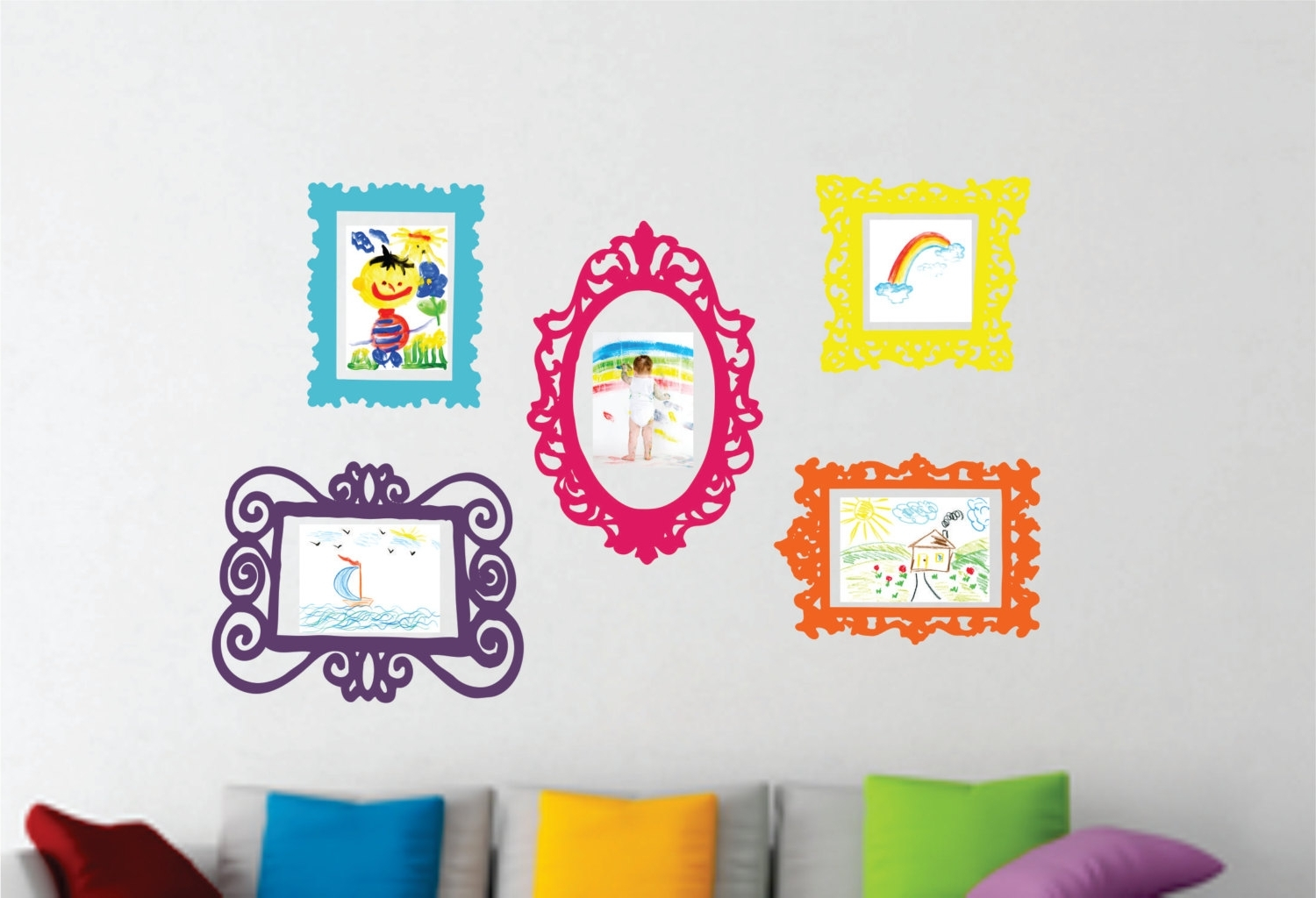 Popular Wall Decal Set Epic Playroom Wall Decals – Wall Art And Wall For Wall Art For Playroom (View 14 of 15)