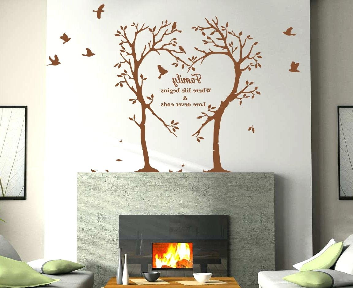 Popular Wall Decal Tree Of Life Family Love Heart Tree Wall Art Sticker Throughout Tree Of Life Wall Art Stickers (View 8 of 15)