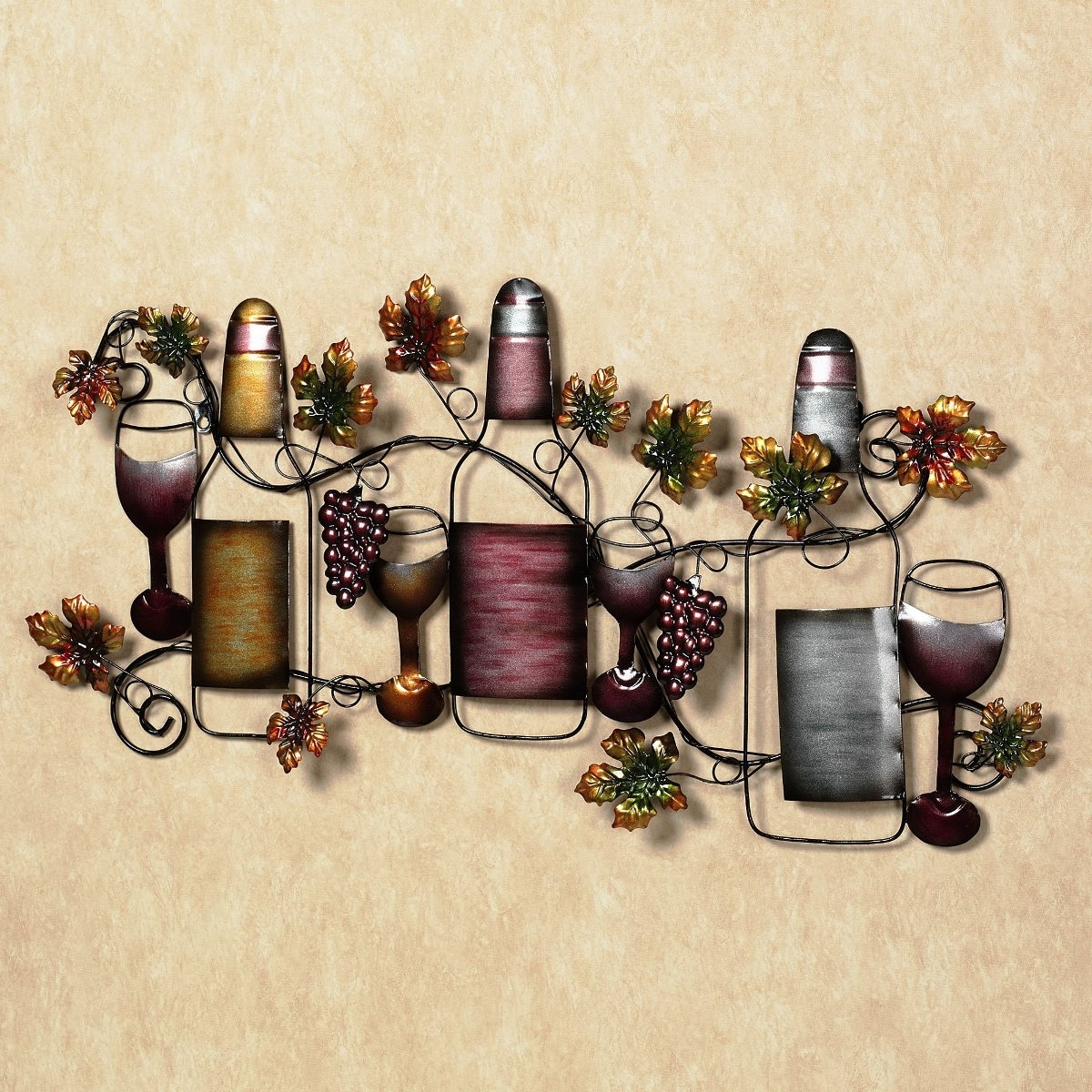 Popular Wine And Grape Wall Art Intended For Ingenious Wine Wall Art Decor Ideas Introducing Intricate Wired (View 6 of 15)