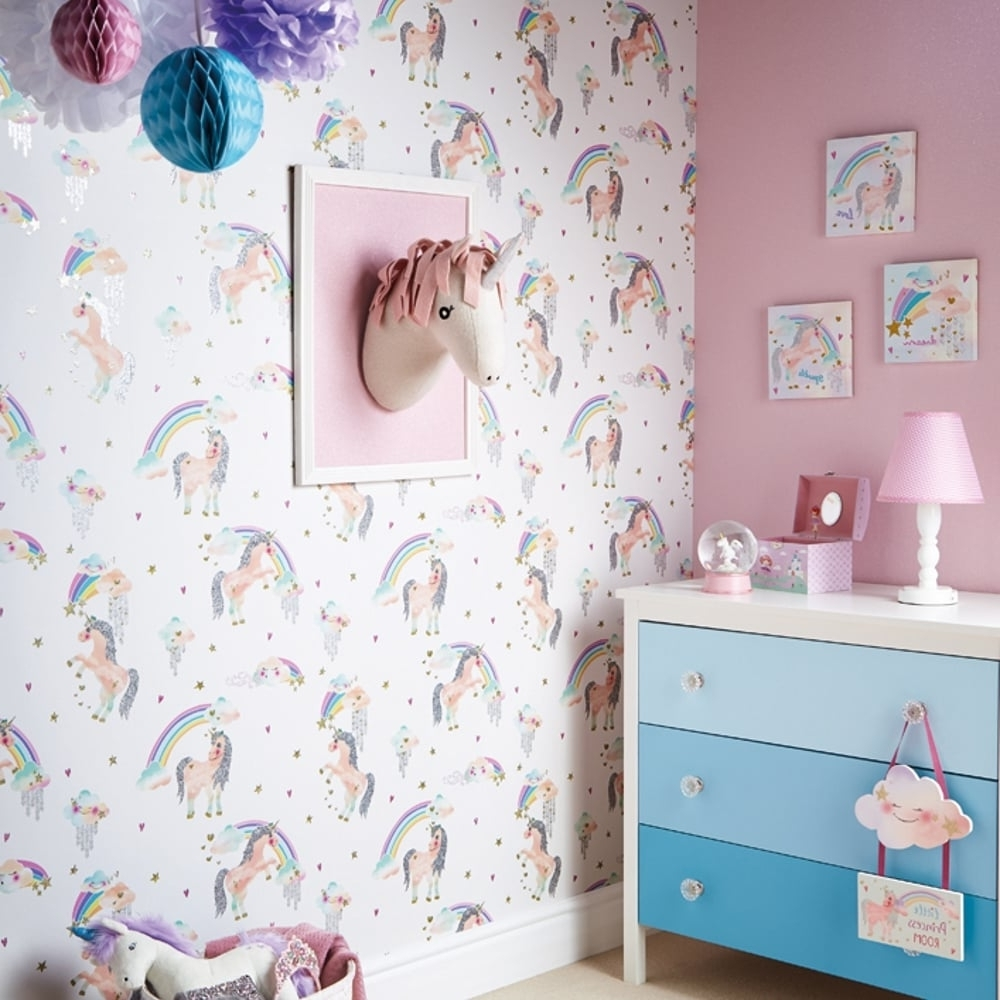 Preferred 3D Unicorn Wall Art Inside Arthouse Ursula The Unicorn Decorative Childrens Wall Art 3D Head (View 11 of 15)