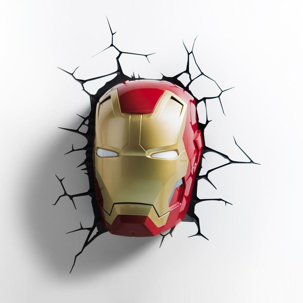 Preferred 3D Wall Art Iron Man Night Light Pertaining To Official Marvel Iron Man Avengers Series 3D Led Wall Night Light (View 12 of 15)