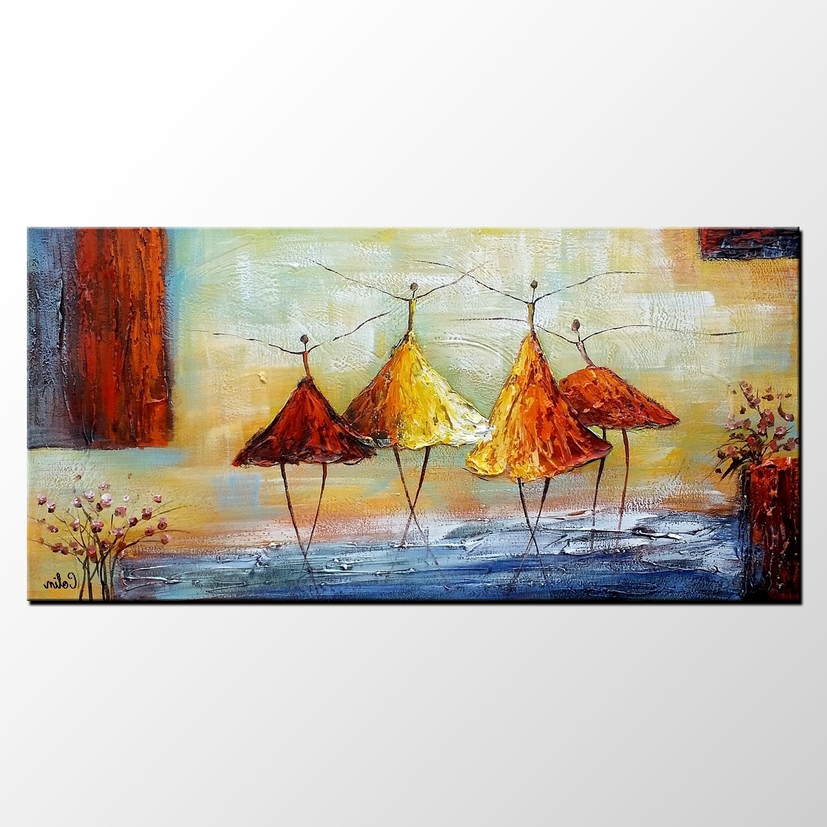 Preferred Abstract Art, Ballet Dancer Painting, Wall Art, Modern Art, Living Inside Modern Abstract Huge Oil Painting Wall Art (View 14 of 15)