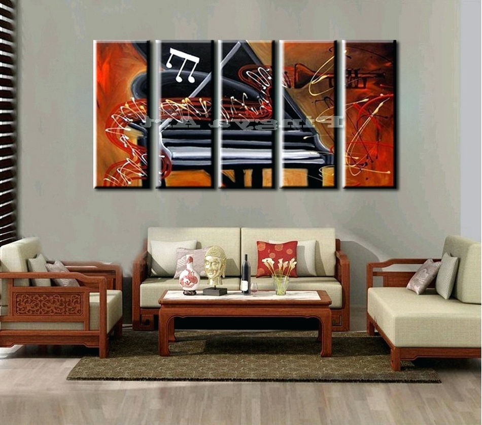 Preferred Abstract Piano Wall Art For Wall Arts ~ Extra Large Canvas Abstract Wall Art 5 Panel Large (View 12 of 15)