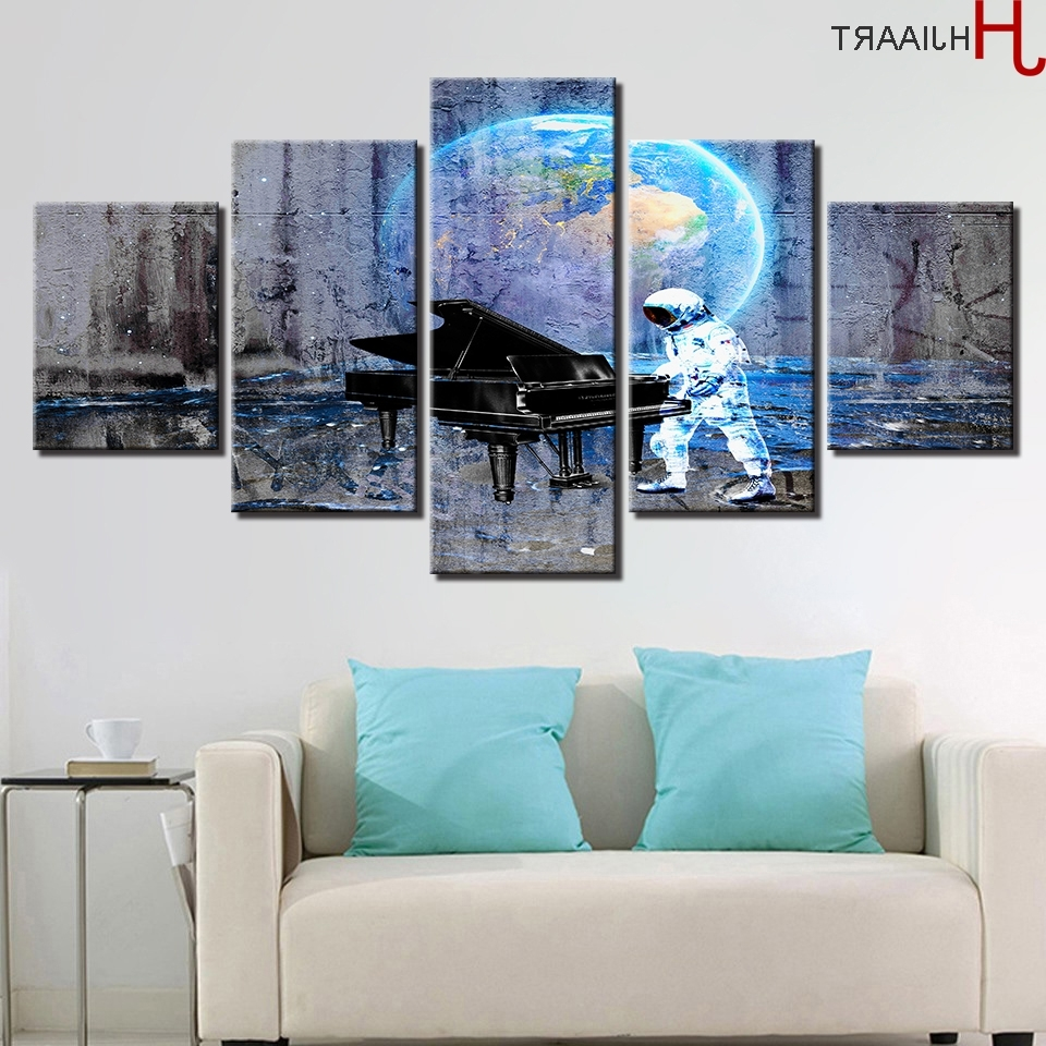 Preferred Abstract Piano Wall Art In Aliexpress : Buy Hjiaart Canvas Hd Prints Poster Wall Art (View 13 of 15)