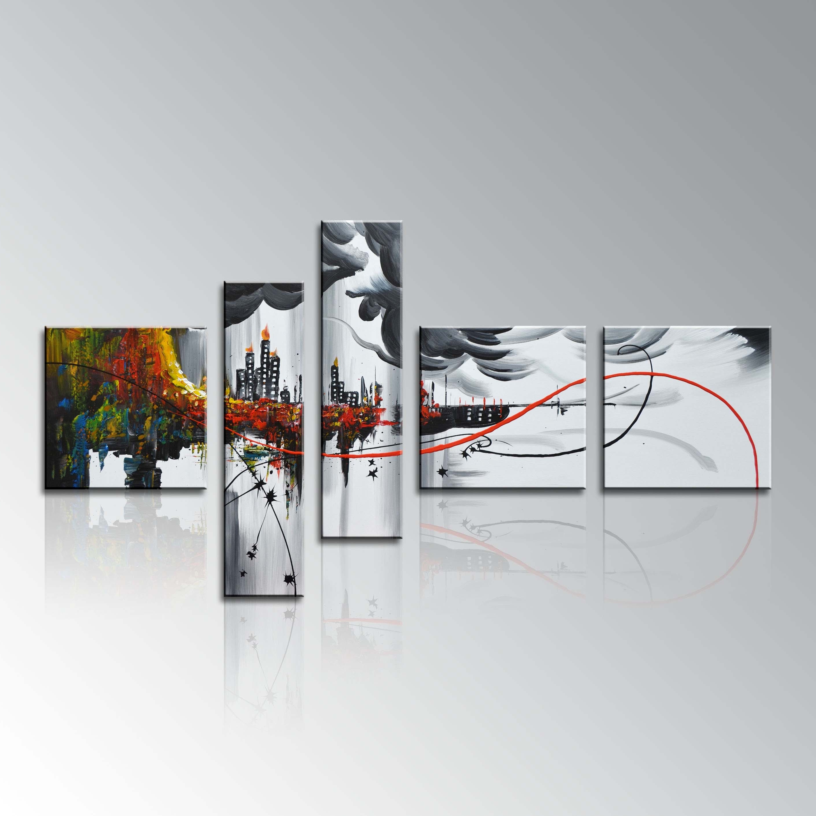 Preferred Abstract Wall Art For Bathroom Within Wall Paintings For Home Modern Framed Home Decor Wall Art Abstract (View 12 of 15)