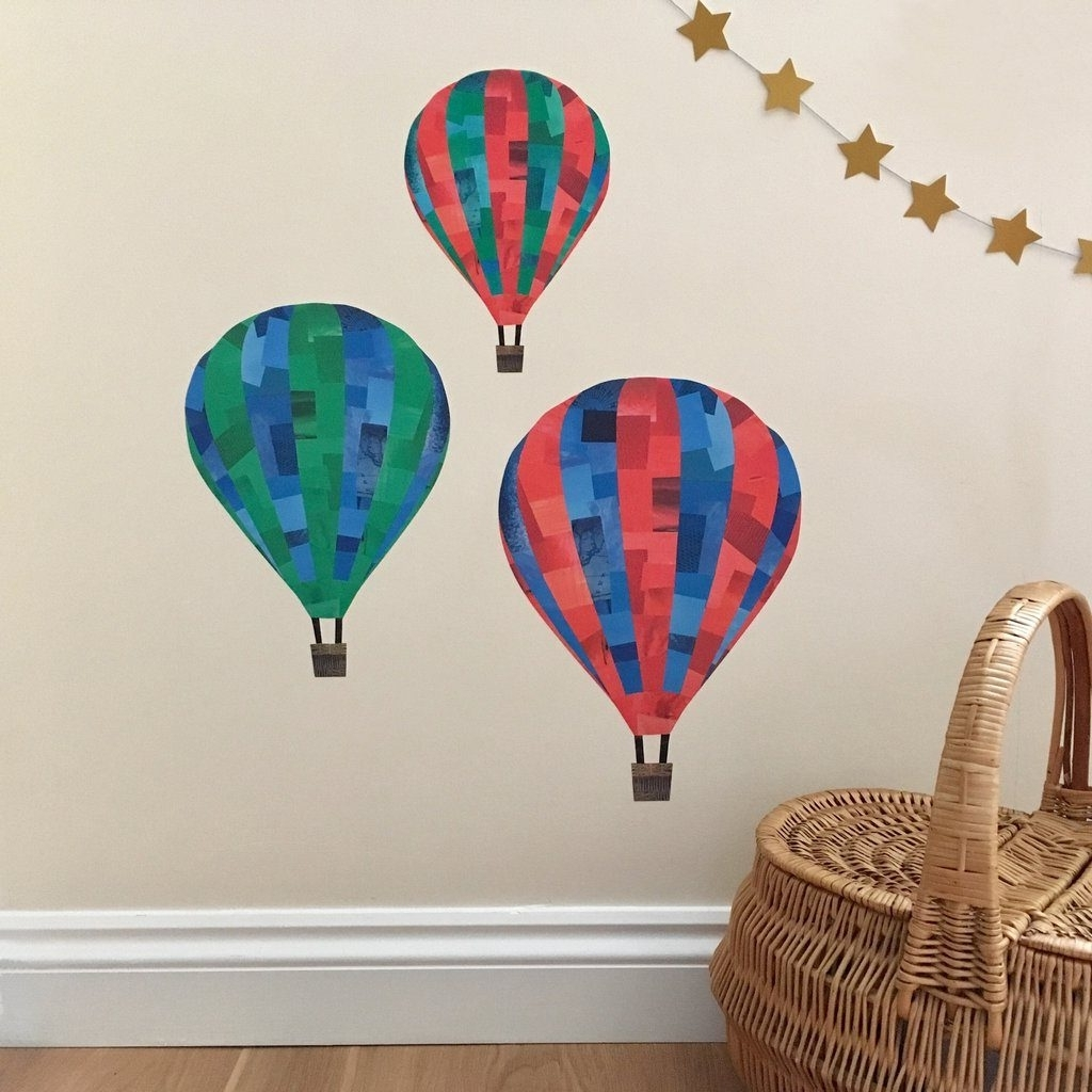 Preferred Air Balloon 3d Wall Art For Dazzling Design Inspiration Hot Air Balloon Wall Art Together With (View 2 of 15)