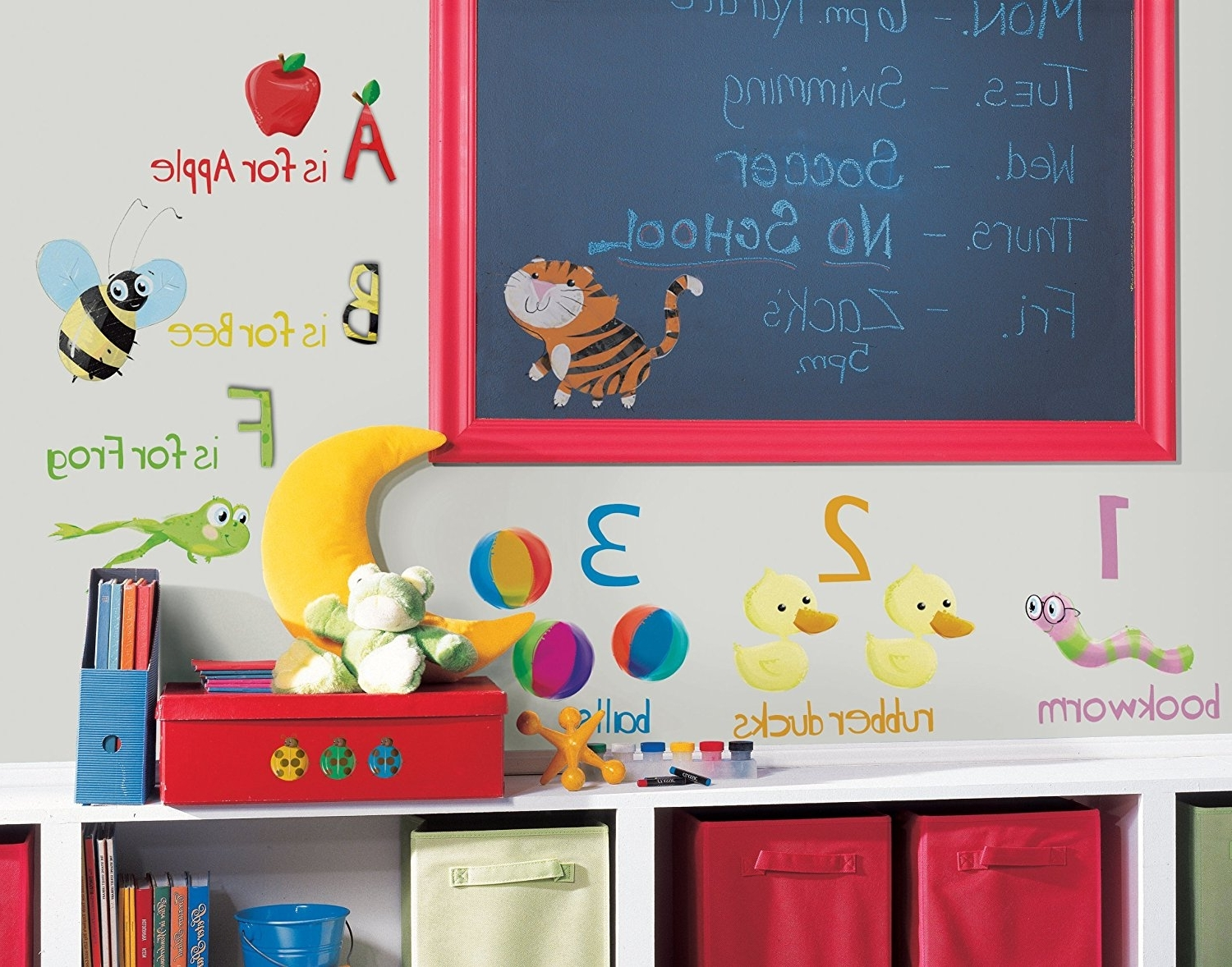 Preferred Amazon: Roommates Rmk1185Scs Education Station Peel & Stick For Preschool Classroom Wall Decals (View 12 of 15)