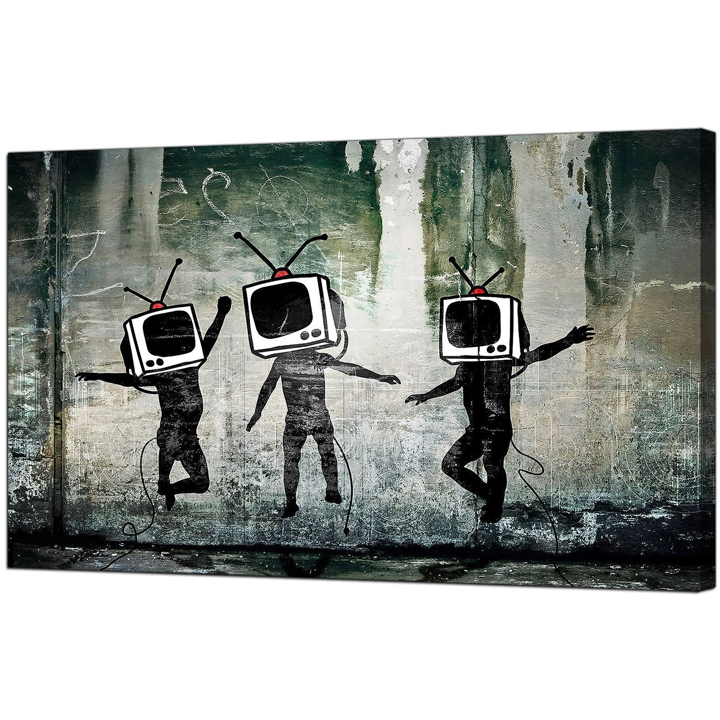 Preferred Banksy Canvas Wall Art Inside Banksy Canvas Prints – Tv Heads (View 14 of 15)