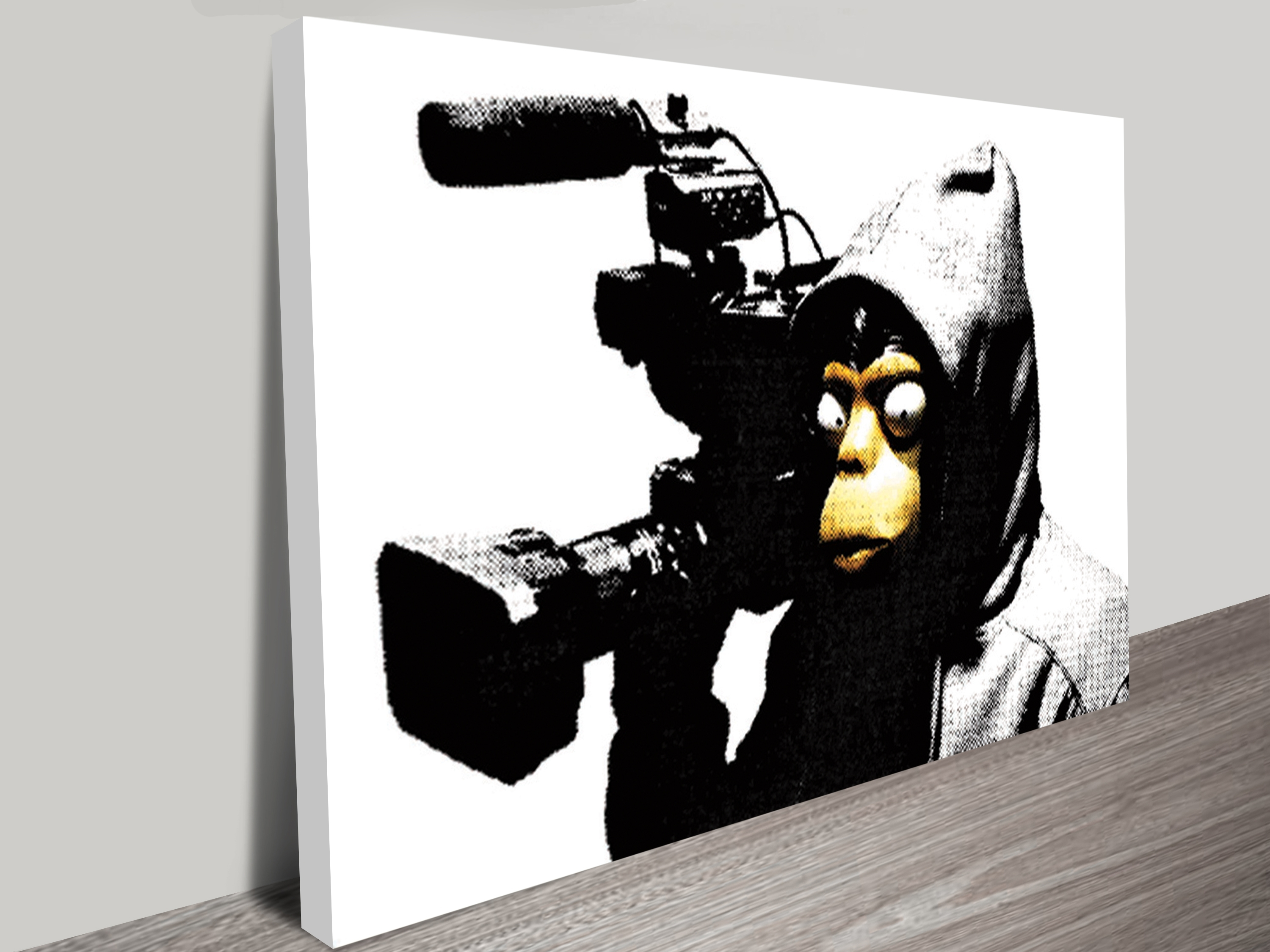 Preferred Banksy Canvas Wall Art With Regard To Film Ape Wall Art Print (View 15 of 15)