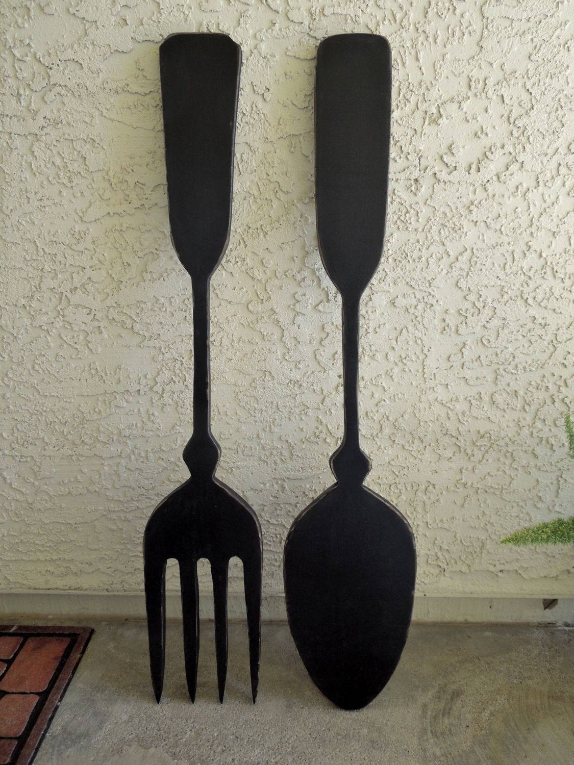 Preferred Big Wood Spoon And Fork Wall Decor For Your Kitchenjigsawjoe Pertaining To Large Utensil Wall Art (View 9 of 15)