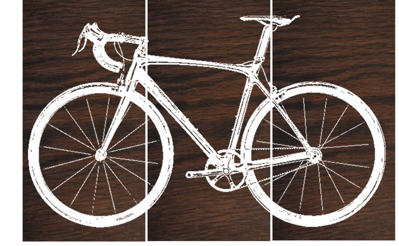 Preferred Bike Wall Art For Road Bike / Street Bike Wall Art / Bicycle Screen Print / Wood (View 13 of 15)