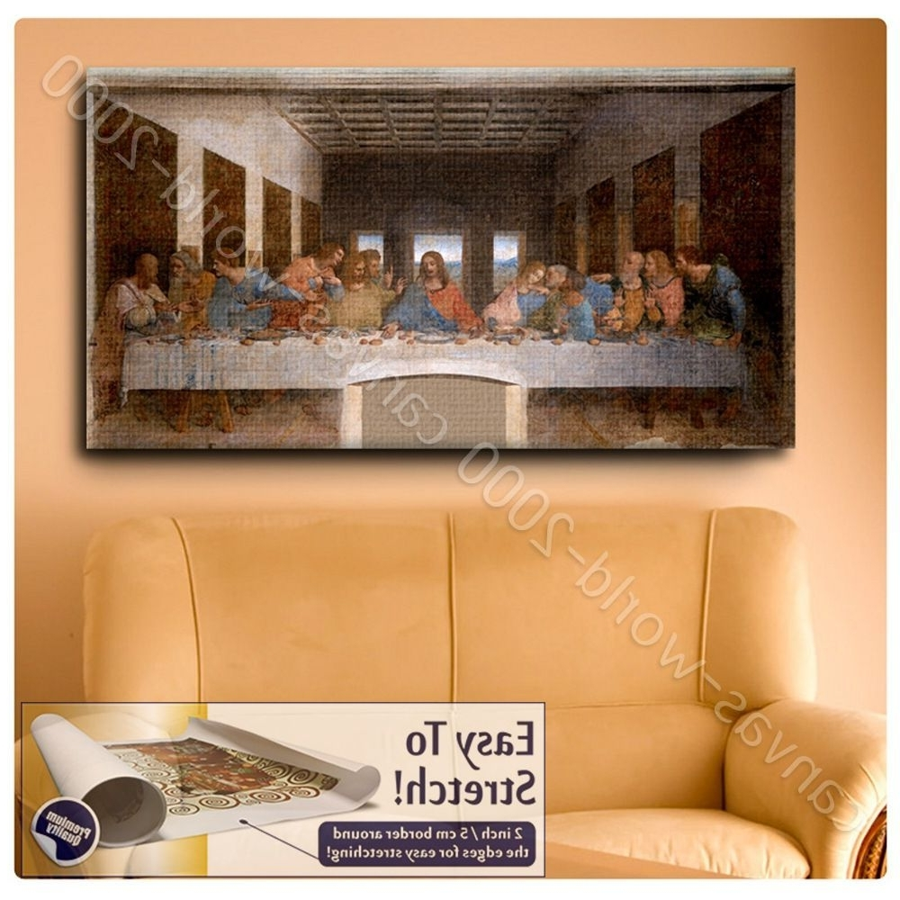 Preferred Canvas (Rolled) The Last Supper Leonardo Da Vinci Art Wall Art Pertaining To Last Supper Wall Art (View 8 of 15)