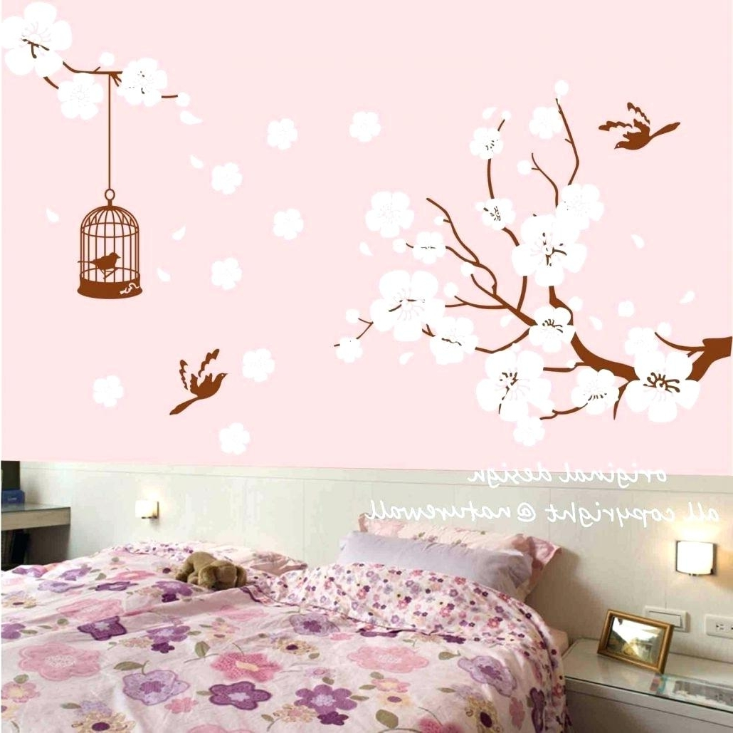 Preferred Cherry Blossom Branch Wall Decal Wall Arts Cherry Blossom Branch Throughout Cherry Blossom Vinyl Wall Art (View 5 of 15)