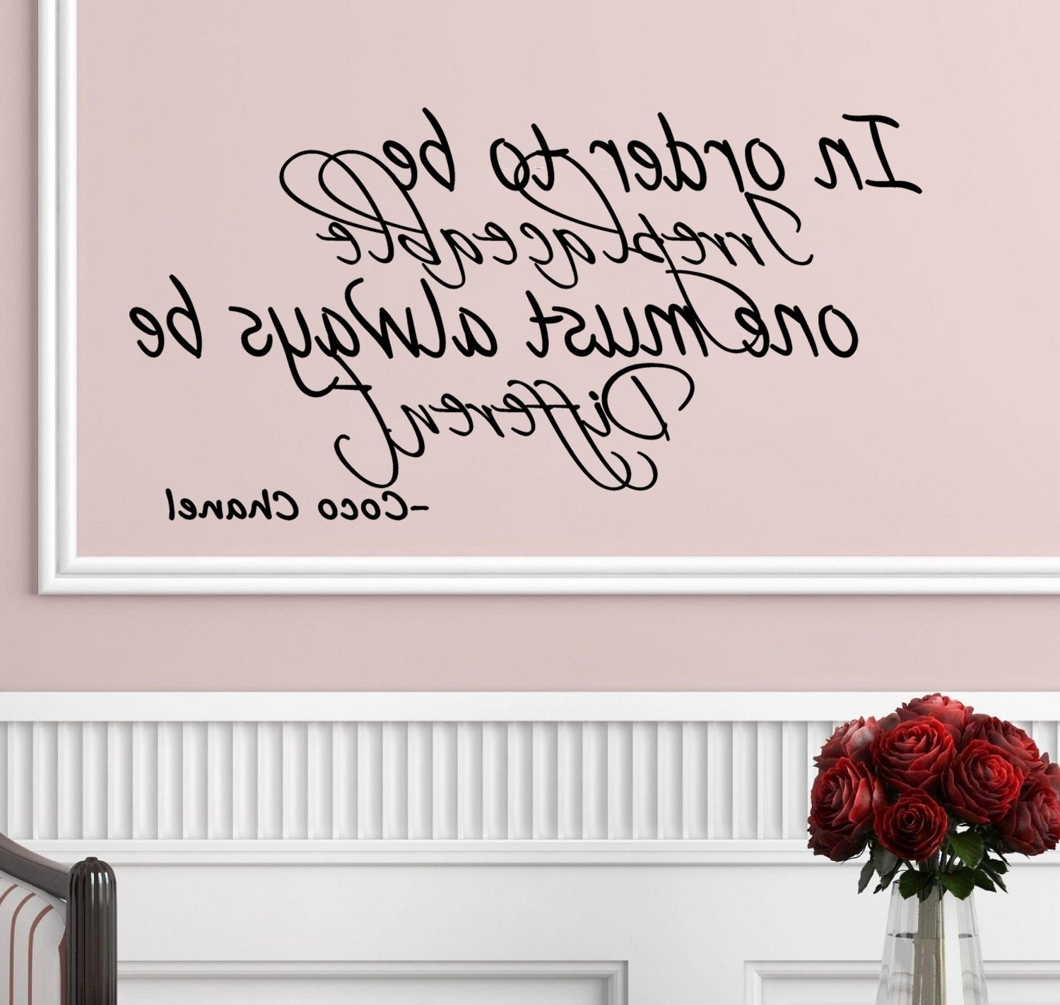 Preferred Coco Chanel Wall Decals With Regard To Amazon: Coco Chanel Quote  In Order To Be Irreplaceable, One (View 14 of 15)