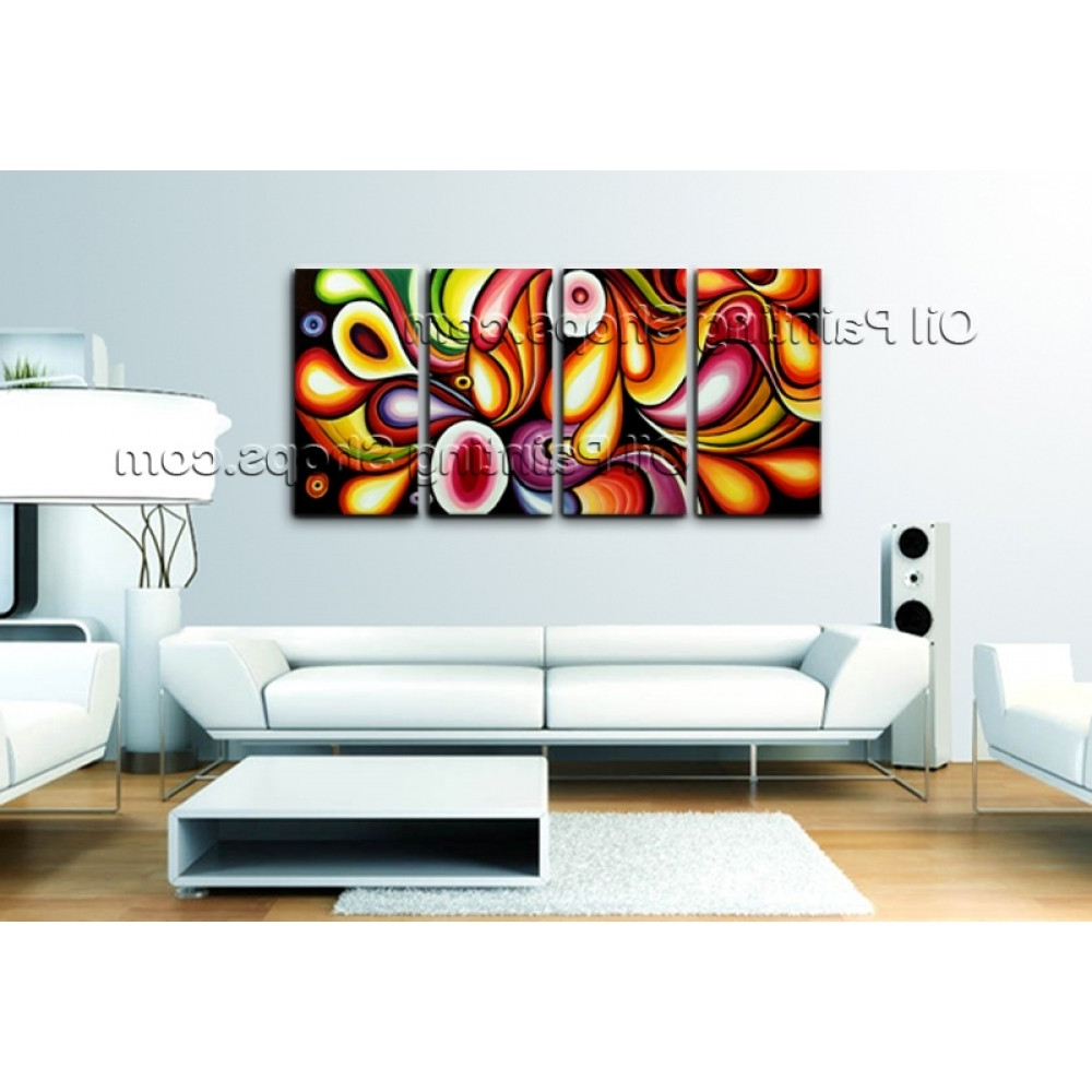 Preferred Extra Large Contemporary Wall Art Regarding Extra Large Canvas Wall Art Rainbow Colorful Abstract Painting (View 13 of 15)
