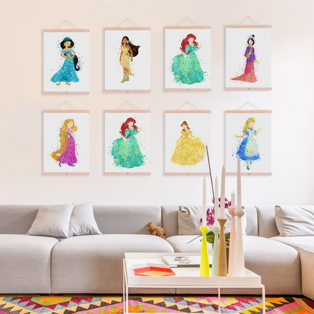 Preferred Extraordinary 60+ Disney Princess Canvas Wall Art Decorating Throughout Disney Canvas Wall Art (View 11 of 15)