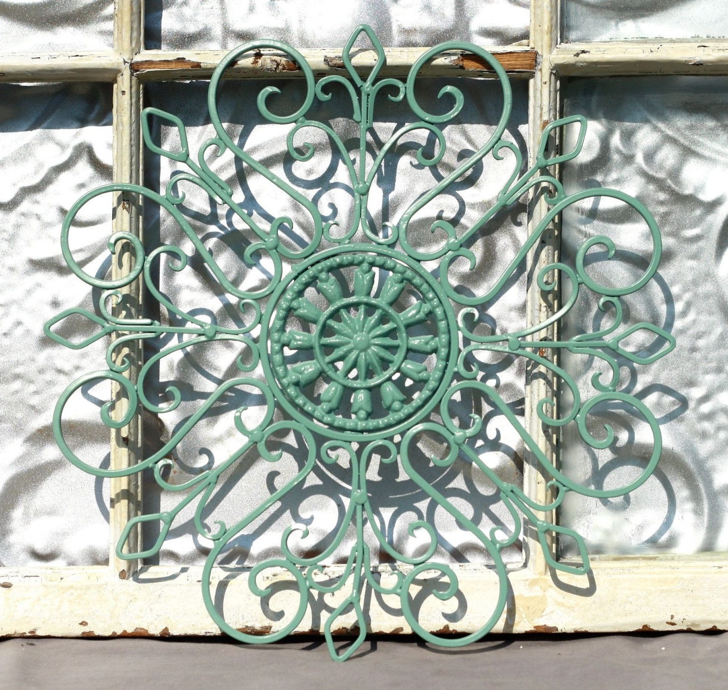 Preferred Faux Wrought Iron Wall Decors With Regard To Wrought Iron Wall Decor/ Metal Wall Hanging/ Indoor/ Outdoor Metal (View 12 of 15)