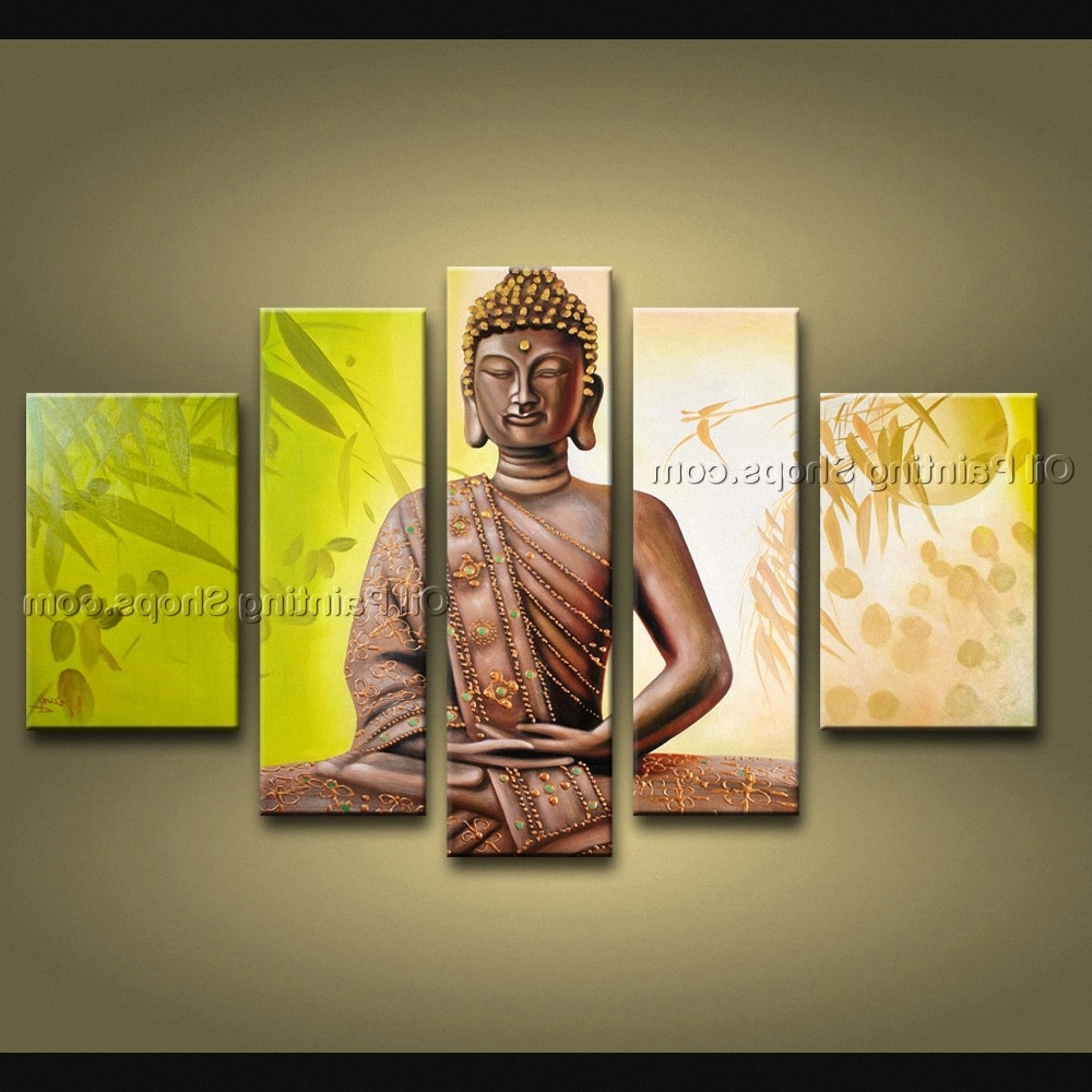 Preferred Feng Shui Zen Art Contemporary Painting Buddha Oil On Canvas Intended For Feng Shui Wall Art (View 15 of 15)