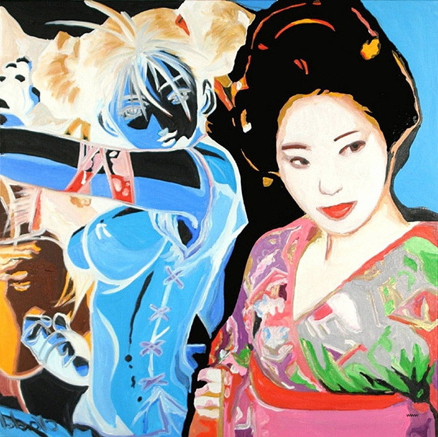 Preferred Geisha Canvas Wall Art Pertaining To Geisha Canvas Wall Art Lovely Saatchi Art Geisha Manga Painting (View 11 of 15)
