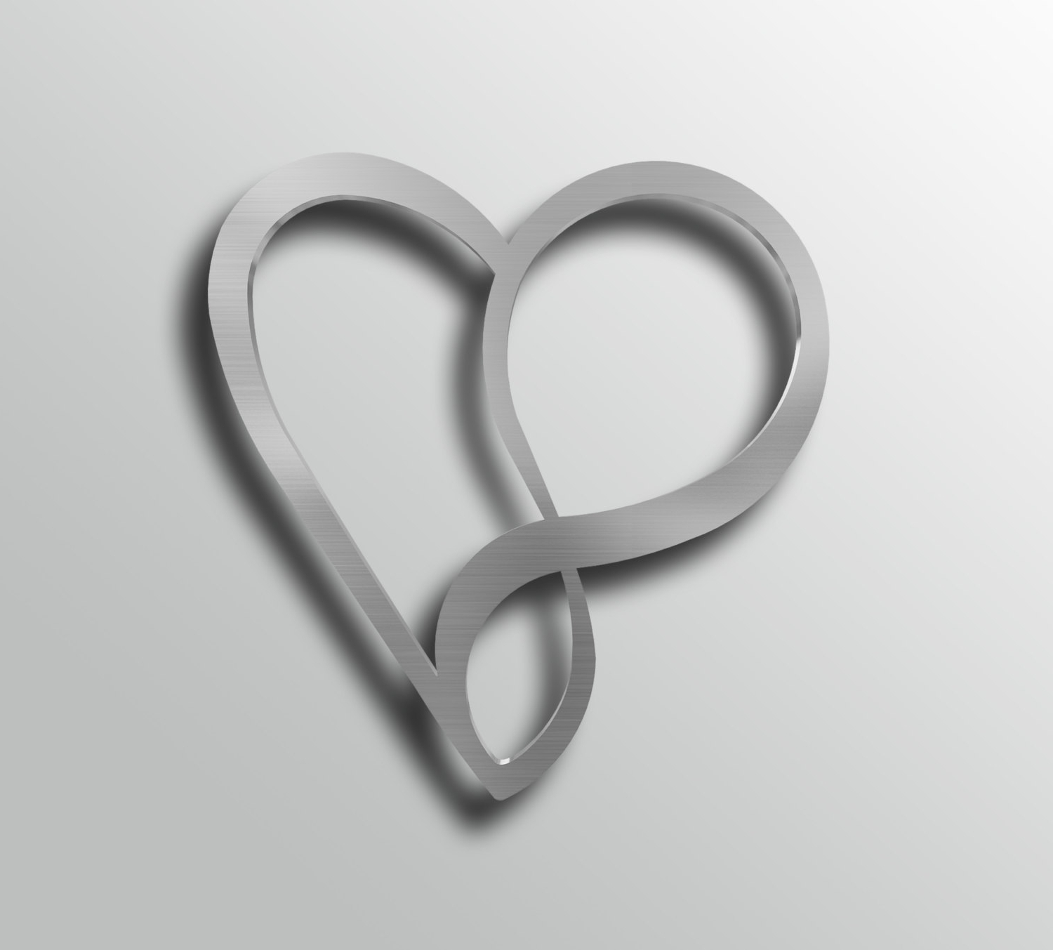 Preferred Heart Shaped Metal Wall Art Intended For Infinity Heart Metal Wall Art, Heart Wall Decor, Modern (View 2 of 15)