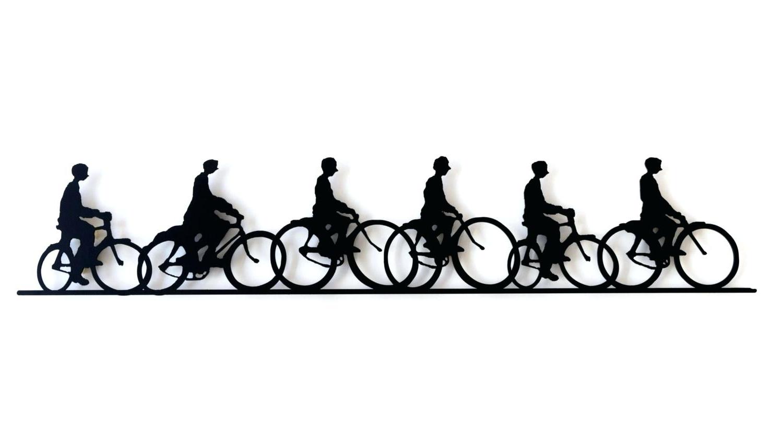 Preferred Key Hook Rack Metal Bike Art Sculpture Wall Hanging Cute Tandem With Bicycle Metal Wall Art (View 12 of 15)