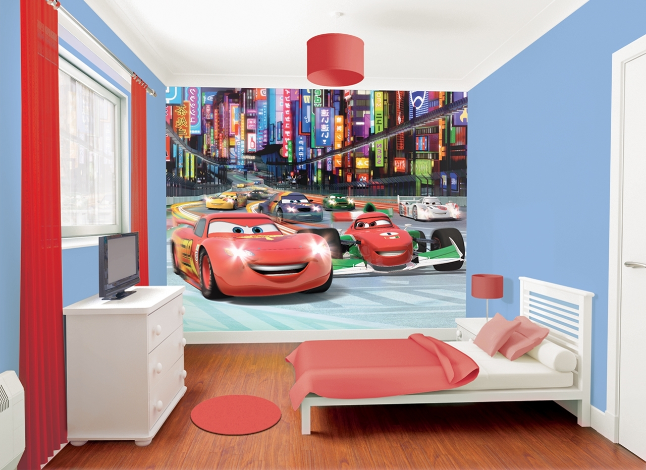 Preferred Lightning Mcqueen Wall Art Intended For Lightning Mcqueen Wall Stickers Mural • Wall Murals Ideas (View 8 of 15)