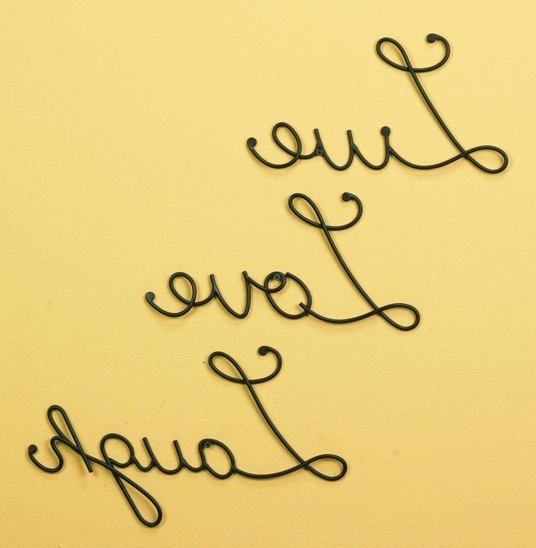 15 Inspirations of Live Love Laugh Metal Wall Decor