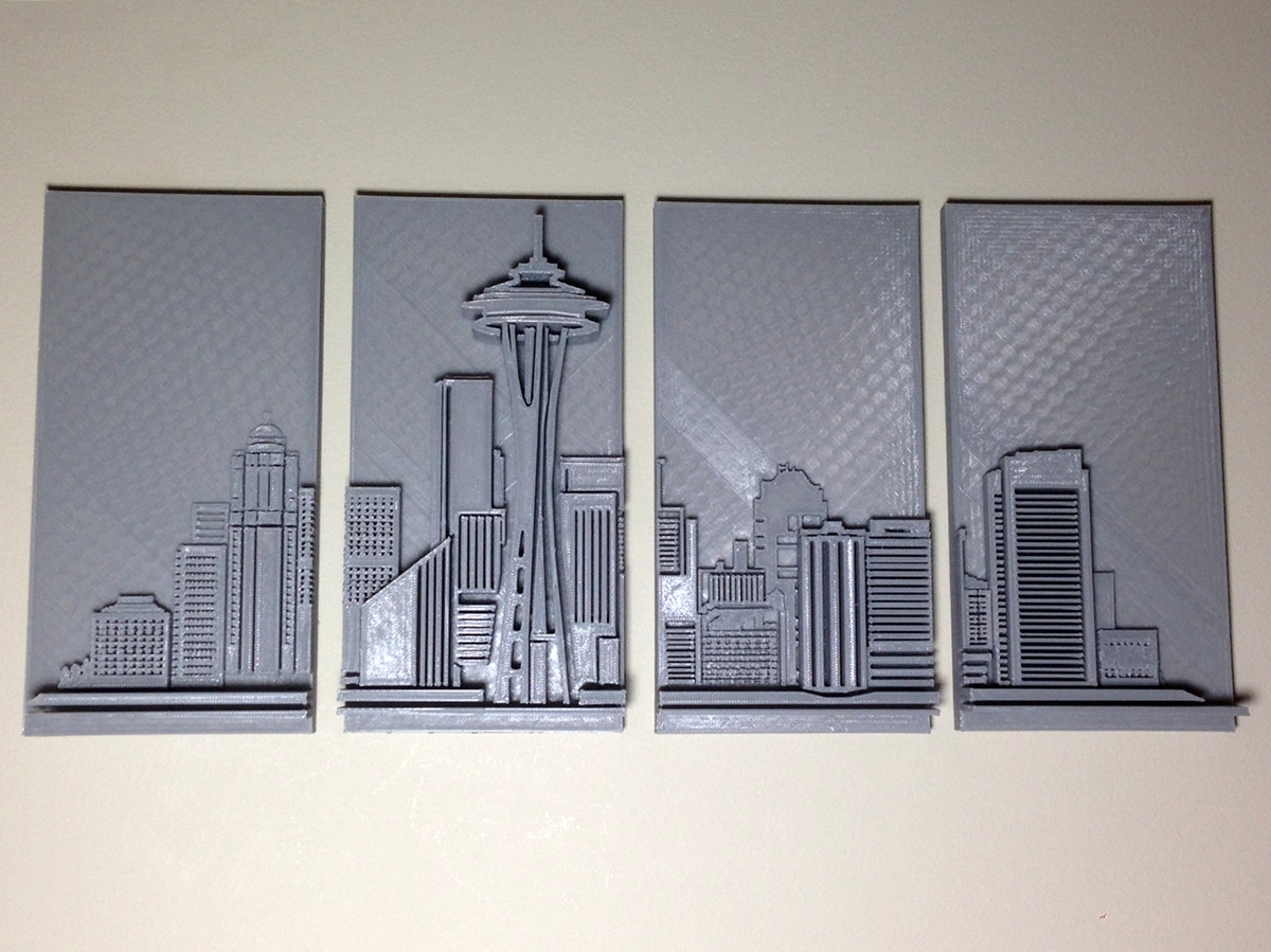 Preferred Love Seattle? Why Not Hang A 3D Printed Skyline On Your Wall With 3D Printed Wall Art (View 13 of 15)