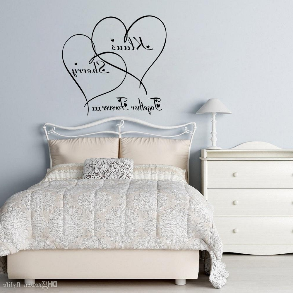 Preferred Love Wall Art Inside Love Wall Decals Customer Made Couples Name Romantic Personalised (View 12 of 15)