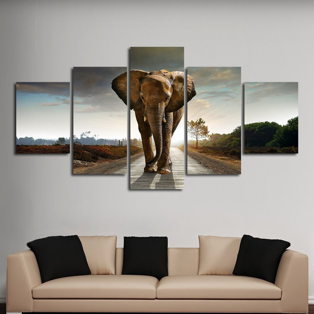 Preferred Luxury Idea Multi Frame Wall Art With Elephant Stock Panel Canvas Within Multiple Piece Canvas Wall Art (View 12 of 15)