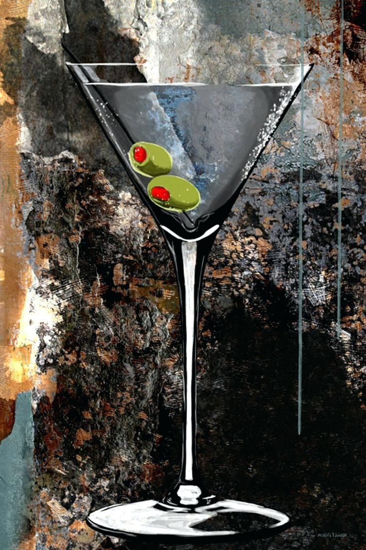 Preferred Martini Metal Wall Art Throughout Wall Arts ~ Martini Bar Wall Art Martini Glass Graphic Art On (View 11 of 15)