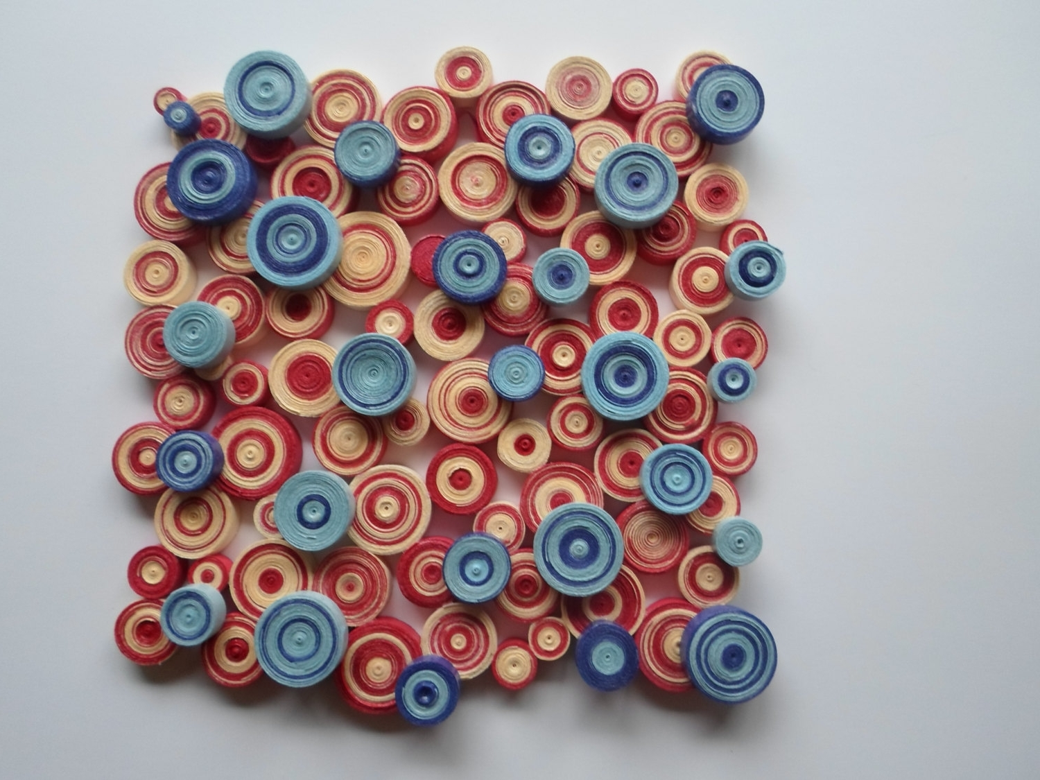 Preferred Modern Wall Decor Blue Red Wall Decoration Abstract Circles Wall Pertaining To Abstract Circles Wall Art (View 10 of 15)