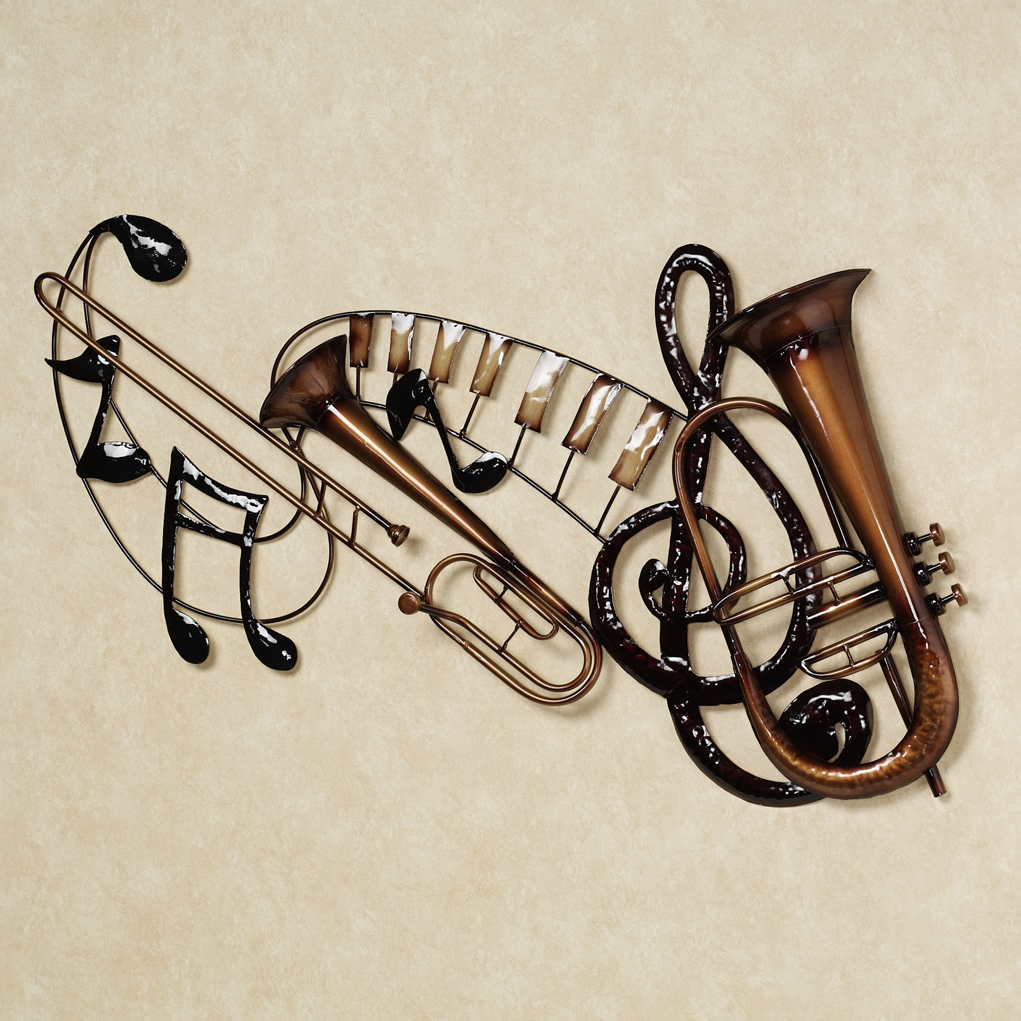 Preferred Musical Instrument Wall Art Pertaining To Wall Art Decor: Touch Metal Musical Wall Art Of Class Simple (View 2 of 15)