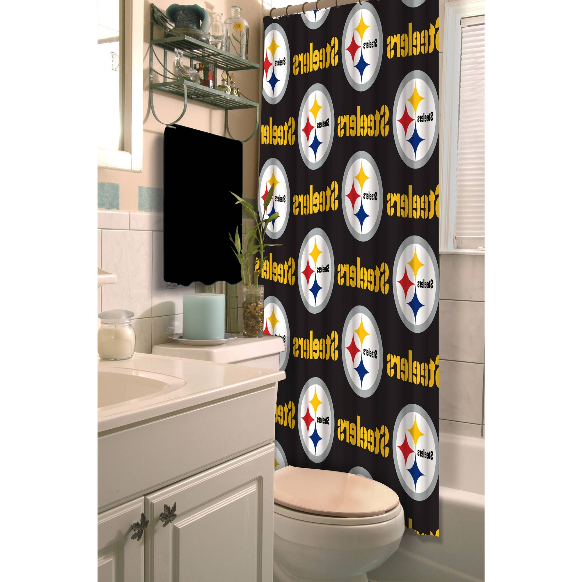 Preferred Nfl Pittsburgh Steelers Decorative Bath Collection – Shower Within Steelers Wall Art (View 10 of 15)