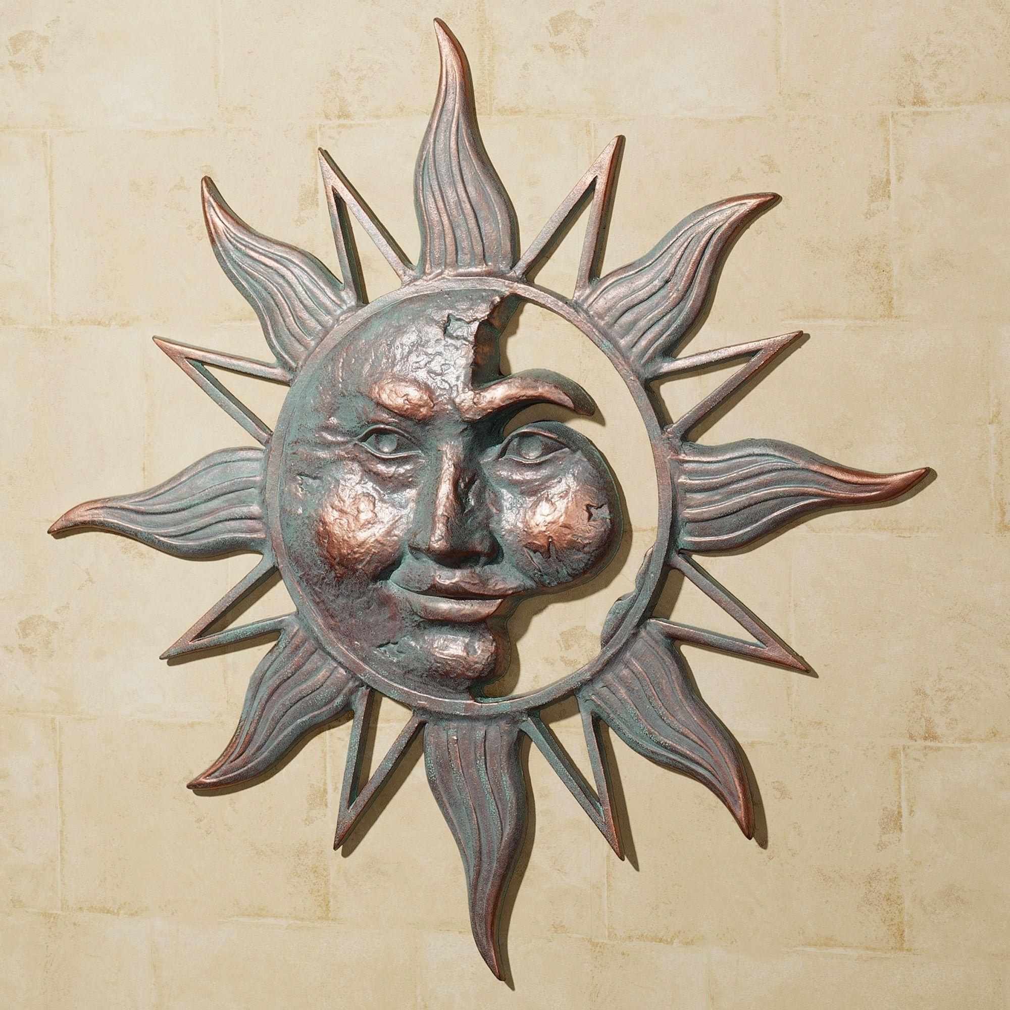 Preferred Outdoor Metal Art For Walls Regarding Half Face Sun Indoor Outdoor Metal Wall Art (View 8 of 15)