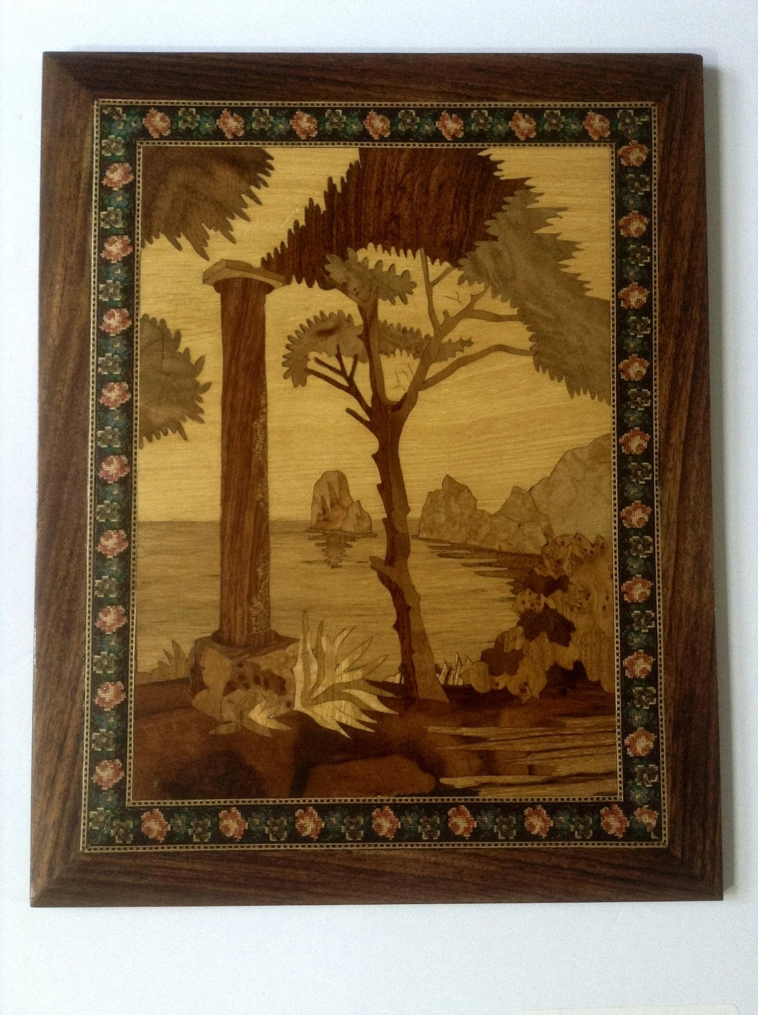 Preferred Rare Italian Coastal Scenes Intarsia Marquetry Inlaid Wood Coastal Pertaining To Italian Inlaid Wood Wall Art (View 10 of 15)