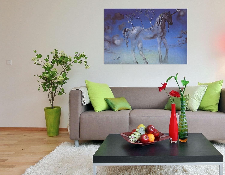 Preferred Salvador Dali Wall Art Regarding Amazon: Startonight Wall Art Canvas Salvador Dali Unicorn (View 4 of 15)