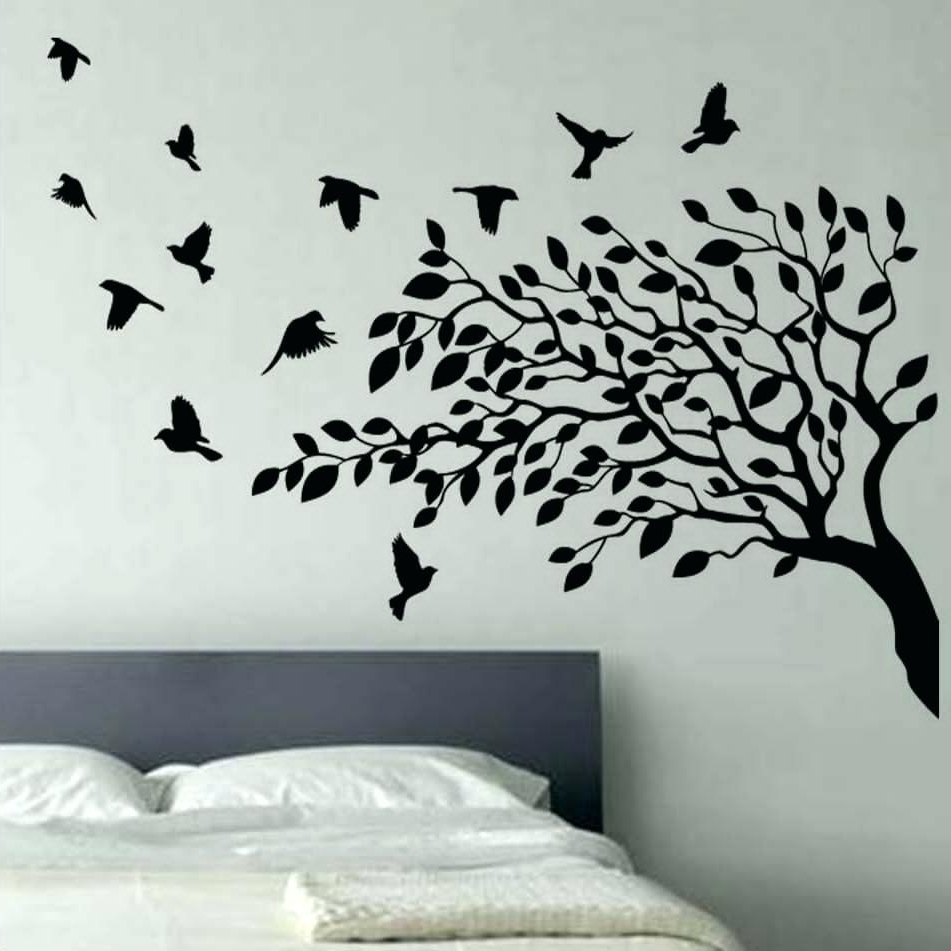 Preferred Teenage Wall Art Within Tree Wall Art Decals Vinyl Sticker Wall Ideas Palm Tree Vinyl Wall (View 9 of 15)