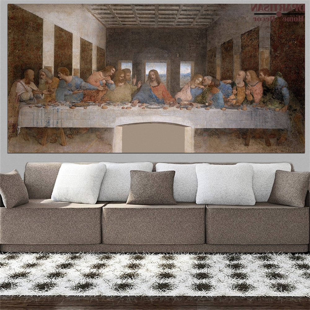 Preferred The Last Supper Wall Art Within Buy Last Supper Picture And Get Free Shipping On Aliexpress (View 15 of 15)