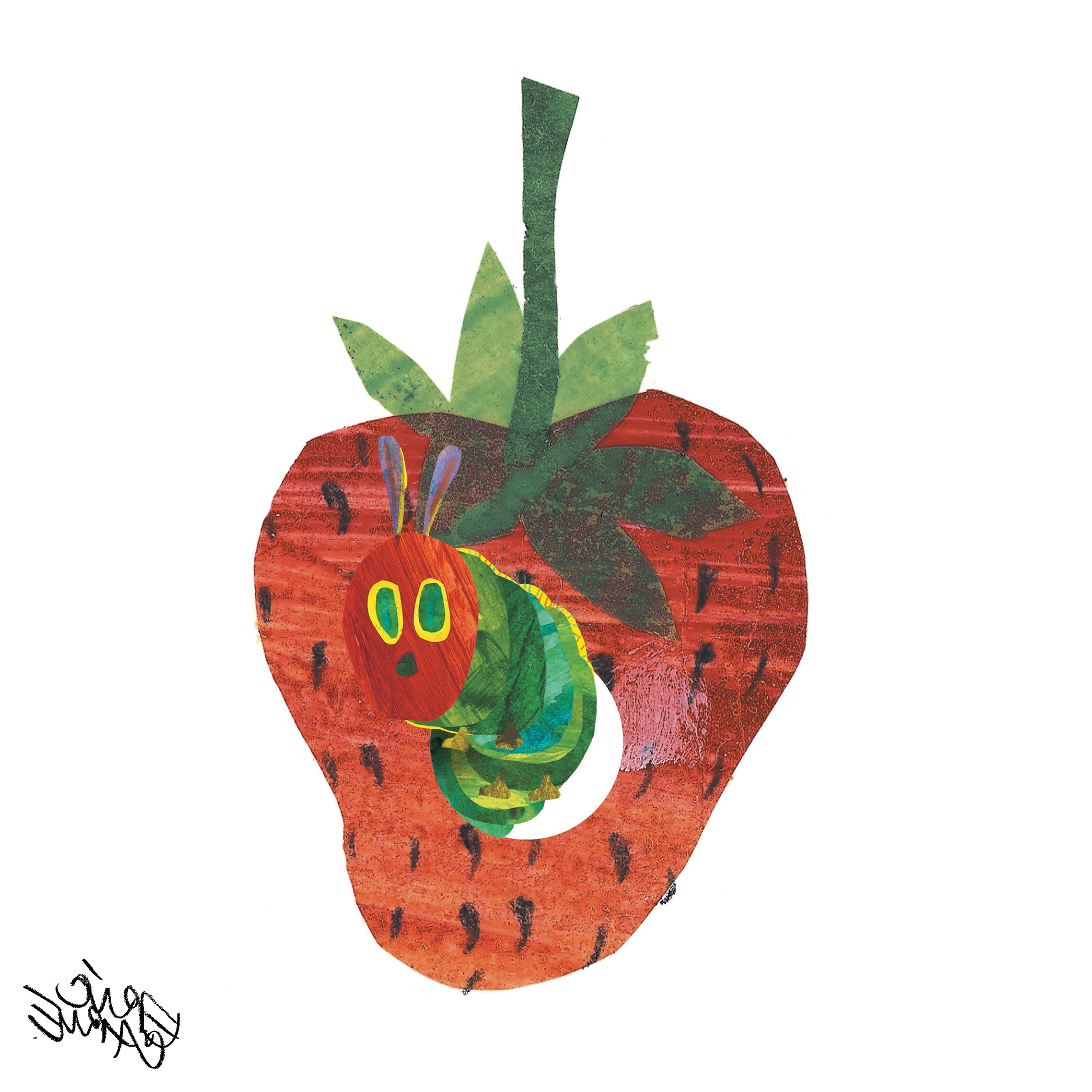 Preferred The Very Hungry Caterpillar Wall Art In Eric Carle The Very Hungry Caterpillar Character Art Strawberry  (View 6 of 15)