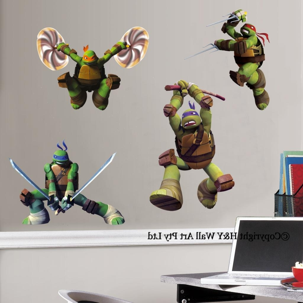 Preferred Tmnt Wall Art Inside Wall Decal: Awesome Ninja Turtle Wall Decals Ninja Turtle Wall (View 8 of 15)