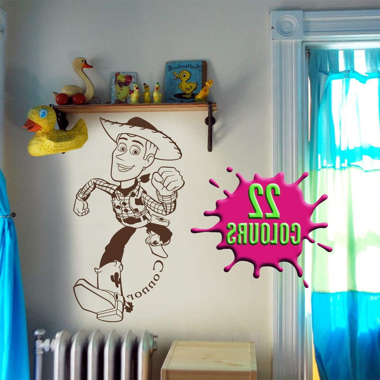 Preferred Toy Story Wall Art Regarding Fantastic Toy Story Woody Wall Art Decal Vinyl Sticker Wall (View 8 of 15)