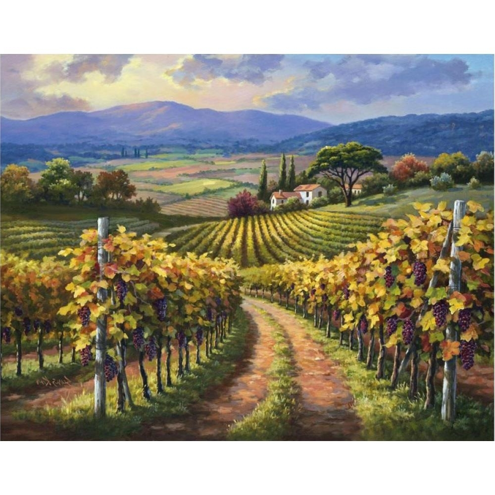 Preferred Vineyard Wall Art With Hand Painted Modern Art Landscapes Oil Painting Canvas Vineyard (View 11 of 15)
