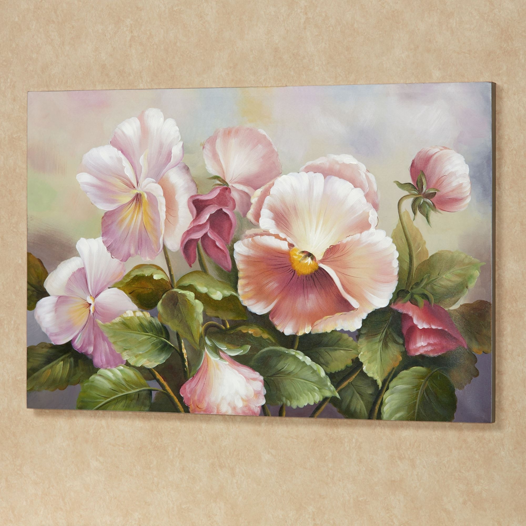 Preferred Wall Art: Awesome Floral Canvas Art Floral Wall Decor Metal, Large For Pink Flower Wall Art (View 12 of 15)