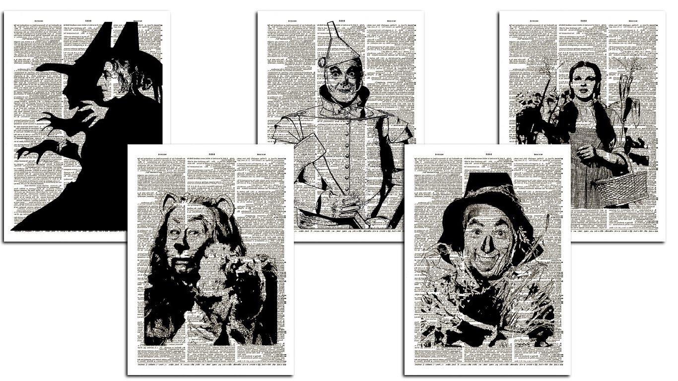 Preferred Wall Art: Classic Design Wizard Of Oz Wall Art Wizard Of Oz Wall For Wizard Of Oz Wall Art (View 6 of 15)