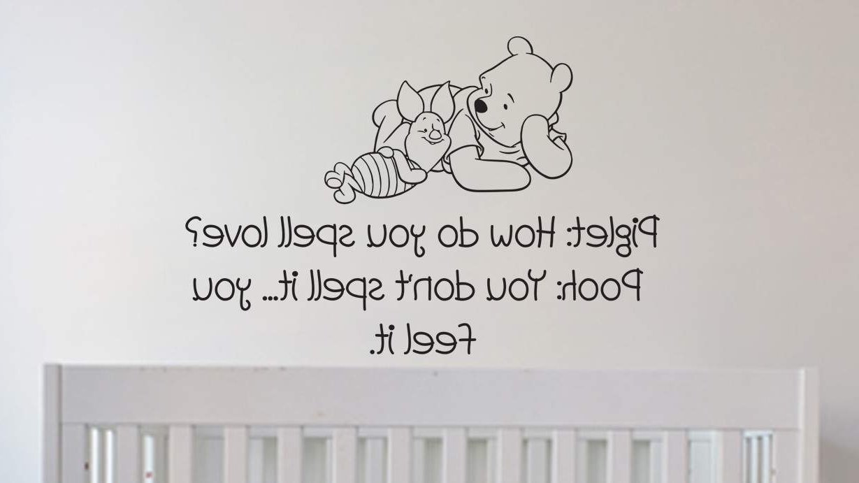 Preferred Winnie The Pooh Wall Art Pertaining To Let Pooh Preach Love To Your Kids Via Wall Decals (View 5 of 15)