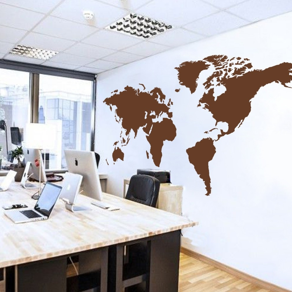 Preferred World Map Wall Decal The Whole World Atlas Vinyl Wall Art Sticker Within Atlas Wall Art (View 8 of 15)