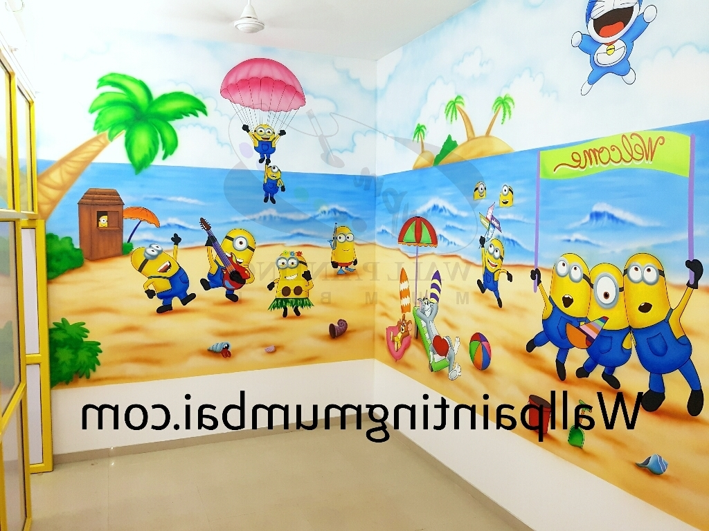 Preschool Wall Art With Most Recent Playschool Wall Painting / Wall Mural (View 7 of 15)