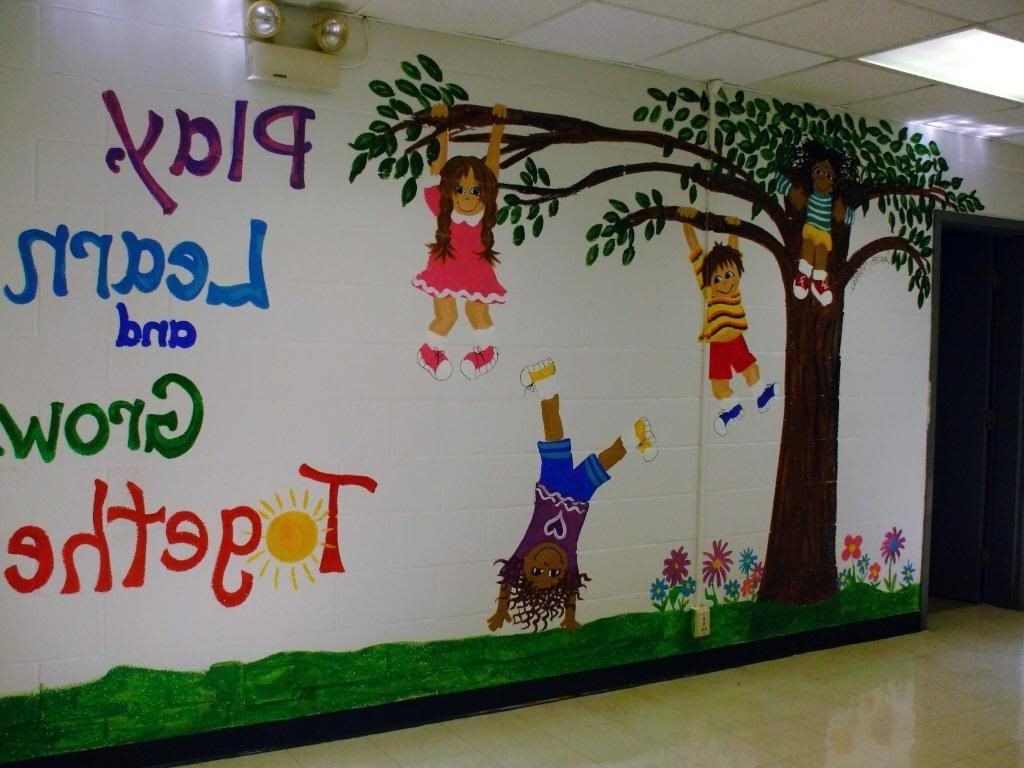Preschool Wall Decoration Regarding Most Recent My Mural On Entrance Wall Of K 2 School Photo Fwall (View 10 of 15)