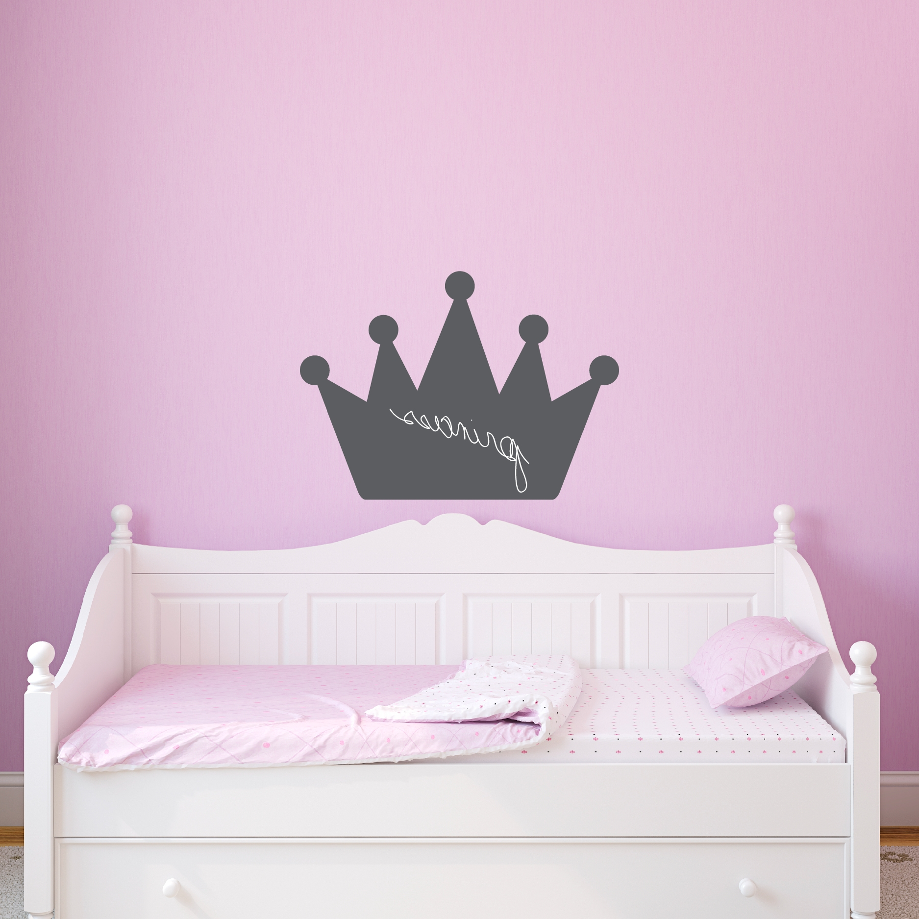 Princess Crown Wall Art Pertaining To Most Up To Date Chalkboard Princess Crown Wall Quotes™ Art Decal (View 4 of 15)